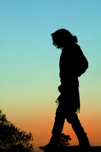 Michael Strolling In The Sunset