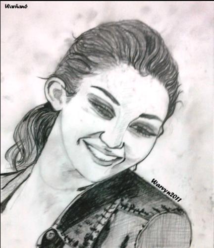 Miley cyrus- portrait Drawing