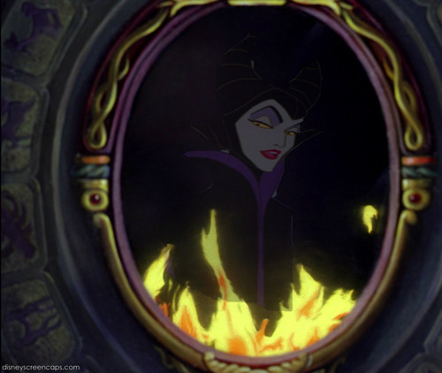 Milifecent in the mirror (from Snow White)