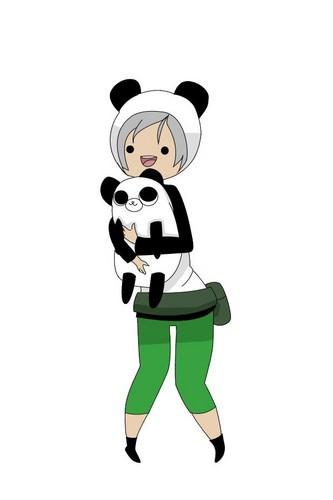 Mindy the Panda and Madison the Human