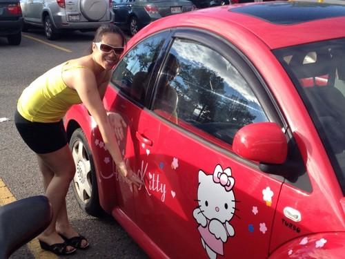 My Hello Kitty Car-Calgary, Alberta