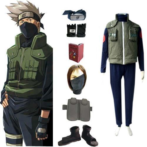 Naruto Hatake Kakashi Deluxe Men's Cosplay Costume