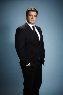 Nathan Fillion 壁纸 containing a business suit, a suit, and a single breasted suit entitled Nathan Fillion New Photoshoot