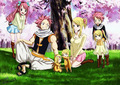 Natsu &amp; Lucy family - fairy-tail fan art