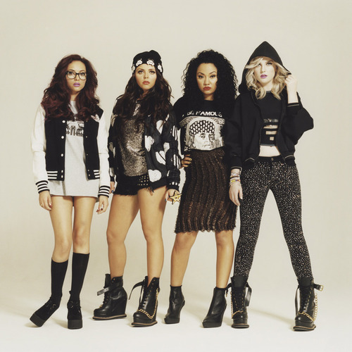 Little Mix wallpaper probably containing a hip boot called New i-D online photoshoot with Little Mix for i-N session - August 2012.