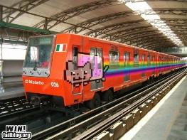 Nyan Cat train