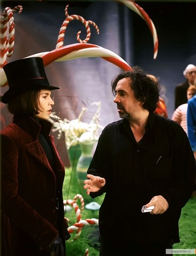 On the set of Charlie and the chocolate factory
