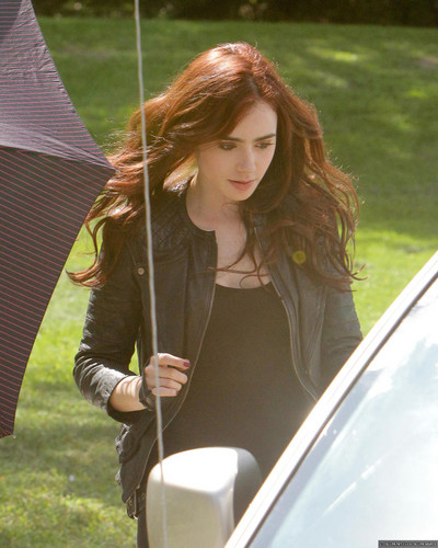 On the set of 'The Mortal Instruments: City of Bones' (August 20, 2012)