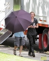On the set of 'The Mortal Instruments: City of Bones' (August 20, 2012) - jamie-campbell-bower photo