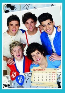 One Direction wallpaper possibly with a sign and a portrait titled One Direction 2013 Calendar - new pics!
