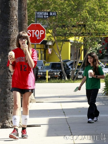 Paris Jackson and her brother Blanket Jackson