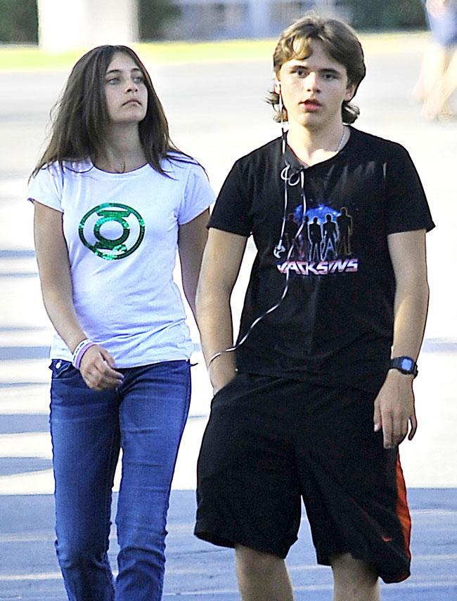 Paris Jackson and her brother Prince Jackson