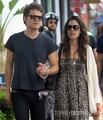 Paul and Torrey Taking a walk on Main Street in Santa Monica, CA (July 1st, 2012) - paul-wesley-and-torrey-devitto photo