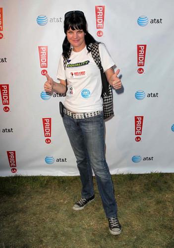 Pauley Perrette - 2012 LA Gay Pride Tag 2 Boo2 Bullying Lounge (Jun 10, 2012)