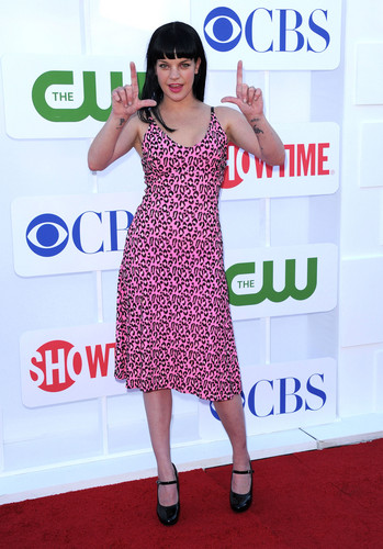 Pauley Perrette wallpaper probably containing a sign called Pauley Perrette - CW, CBS and Showtime Summer TCA Party (2012.07.29.)