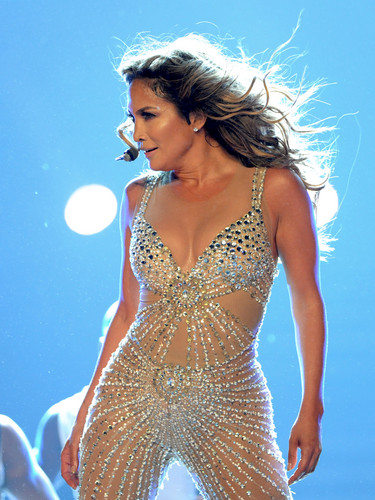 Jennifer Lopez wallpaper titled Performs On Stage At Staples Center In Los Angeles [16 August 2012]