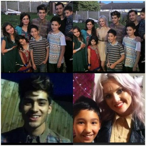 Perrie with Zayn and his family on Eid :)