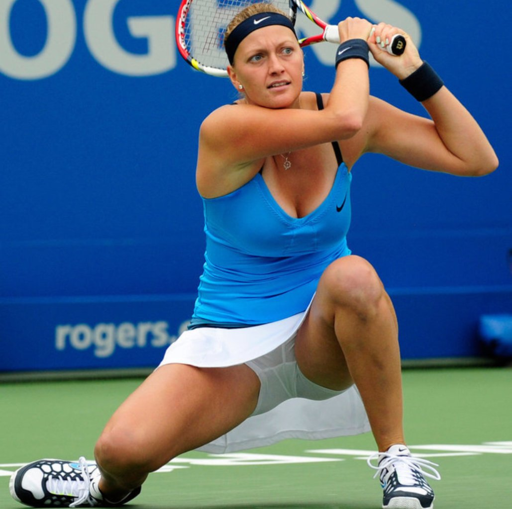 Petra Kvitova transparent underpants