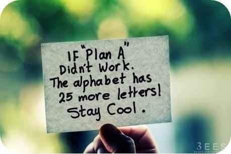 Quotes wallpaper titled Plan B