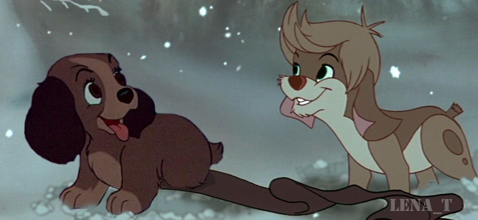 Playing On The Snow Pooka And Lady Disney Crossover