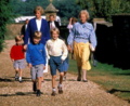 Princess Diana, Prince William, Prince Harry, and Diana's mother
