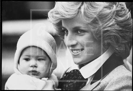 Princess Diana and baby Prince Harry