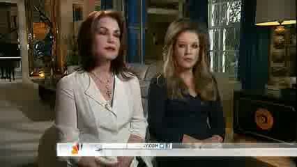 Priscilla & Lisa Marie Presley Attend Vigil 35 Years After Elvis