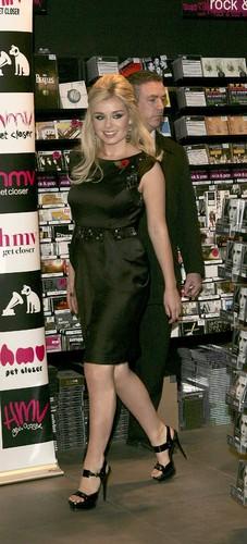 "Promoting her new album ""Believe"" at HMV in London"