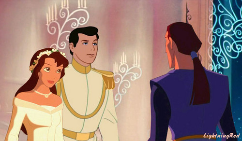 Disney crossover karatasi la kupamba ukuta called Proteus Comes to Kayley and Prince Charming's Wedding