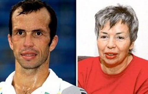Radek Stepanek (33) and his mother mother Hana Stepankova (61)