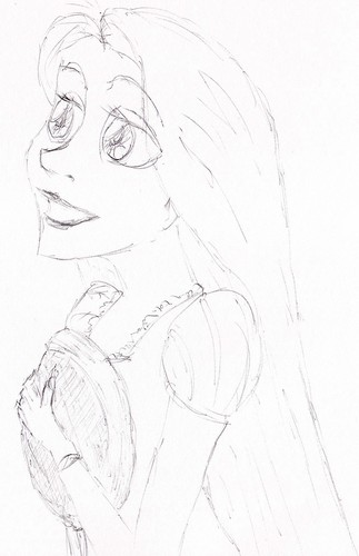 Rapunzel and her frying pan - disney-princess Fan Art