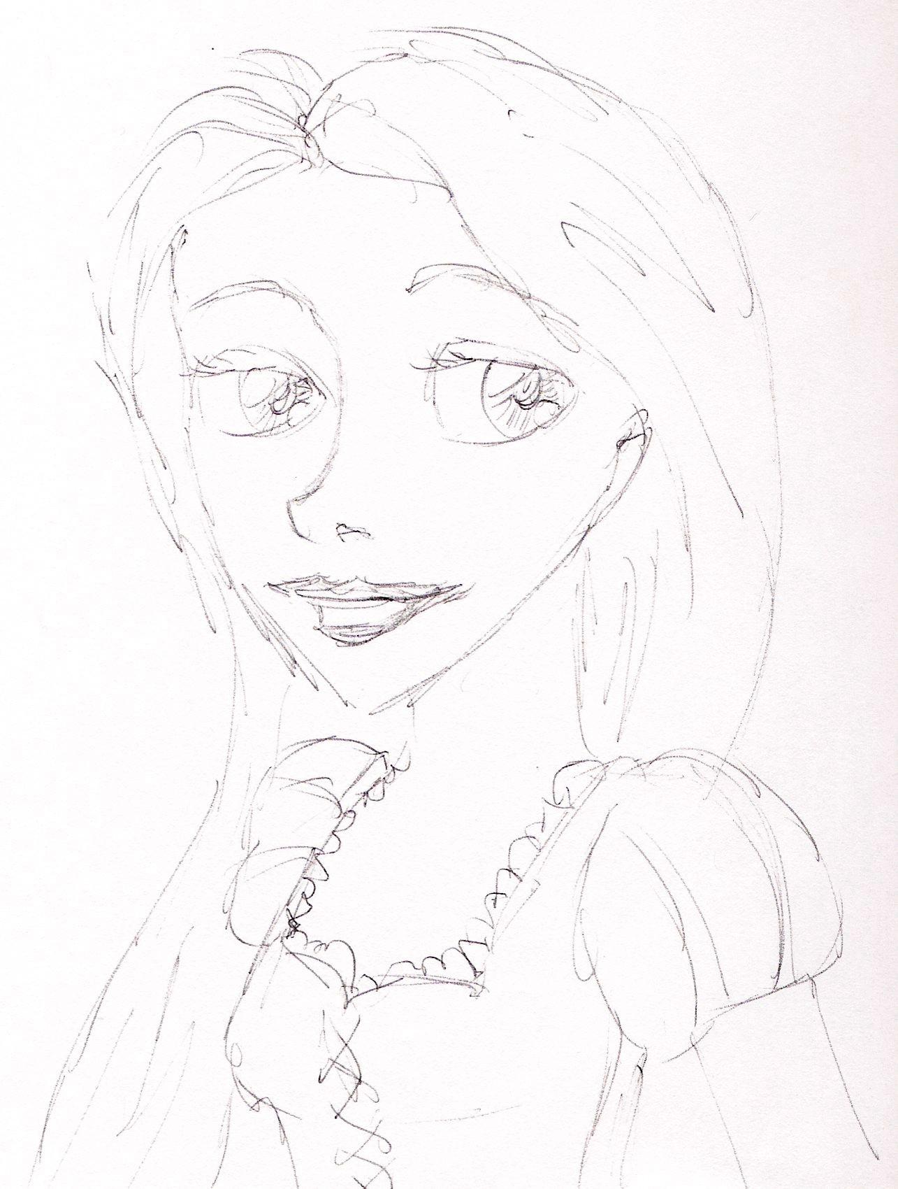 Rapunzel ballpoint sketches - Disney Princess Fan Art ...