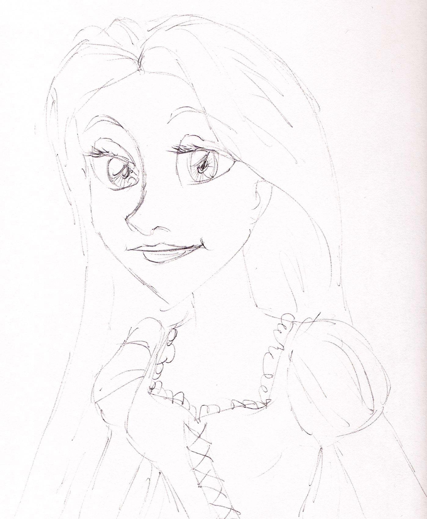 Disney Princess images Rapunzel ballpoint sketches HD ...