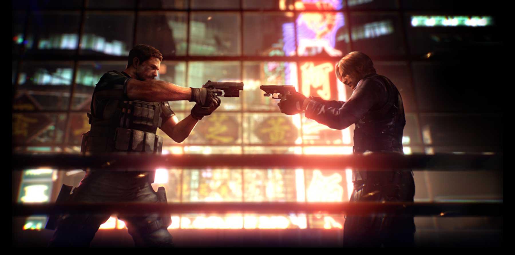 Resident Evil 6 Leon vs Chris