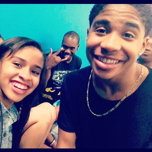 Roc and his cousin Kyla