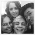 Ross and Laura with fans