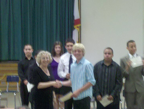 Ross at his graduation