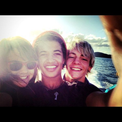 Ross with friends