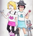 Roxy and Jane! - homestuck fan art