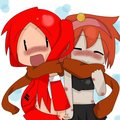 Ruka and ELLEN(Human)..::I'll share my scarf with you::..