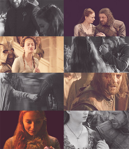 Ned and Sansa Stark