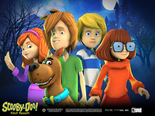 Scooby-Doo achtergrond titled Scooby Doo First Frights