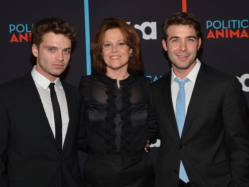 Sebastian Stan, Sigourney Weaver & James Wolk @ the Political Tiere Red Carpet Premiere