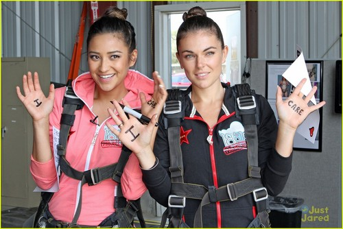 Shay went skydiving to raise monies for the Somaly Mam Foundation - pretty-little-liars-tv-show Photo