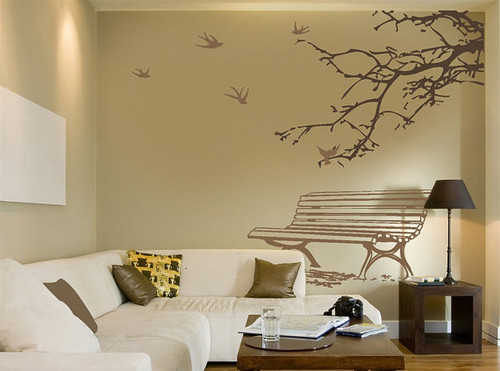 Spring Coming Birds Fly Back mural Sticker