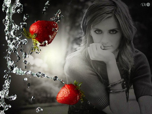 Caskett wallpaper containing a virginia strawberry, a strawberry, and a beach strawberry titled Stana Katic