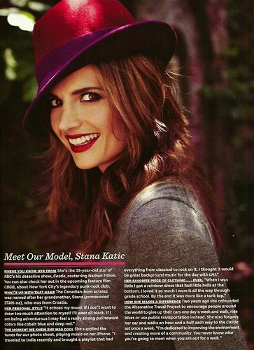 Stana Katic karatasi la kupamba ukuta possibly with a fedora and a boater called Stana Katic