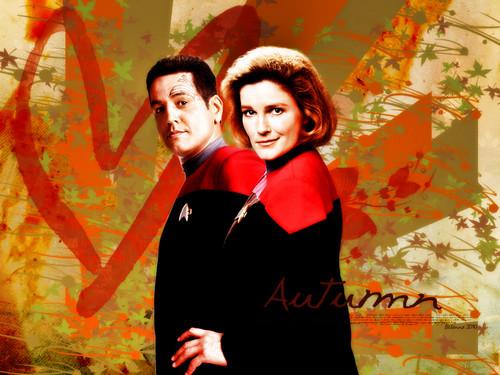 তারকা Trek Voyager - দেওয়ালপত্র দ্বারা be-lanna