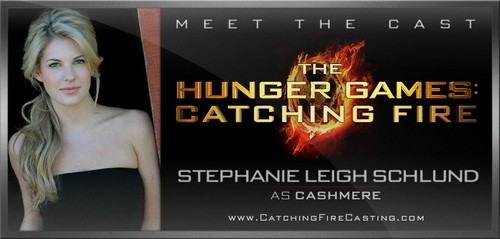 Catching feuer Hintergrund possibly with a portrait titled Stephanie Leigh Schlund Cast as Cashmere