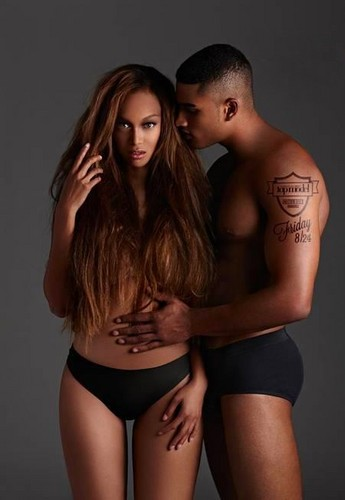 Tyra Banks wallpaper with skin titled TYRA AND ROB EVANS
